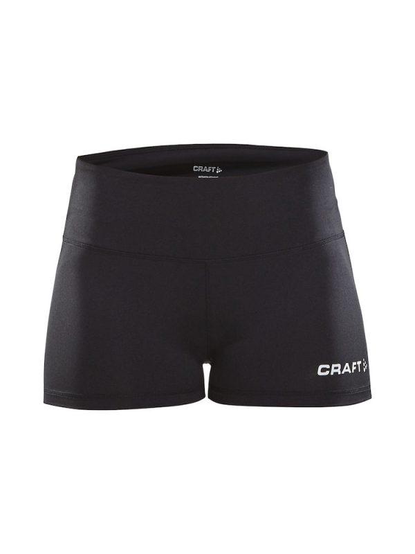 CRAFT Squad Hotpants mustat lentopalloshortsit